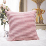 Home Brilliant Soft Pink Cushion Cover, 45cmx45cm