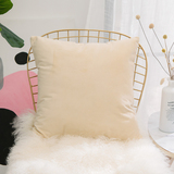 HOME BRILLIANT Velvety Soft Solid Square Euro Pillow Sham Decorative Cushion Cover for Floor/Office