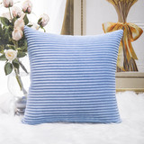 HOME BRILLIANT Decor Solid Supersoft Corduroy Handmade Decorative Velvet Throw Pillow Cushion Cover