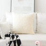 HOME BRILLIANT Plush Mongolian Faux Fur/Suede Throw Pillow Cover Fluffy Sheepskin Cushion Case for