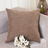 "HOME BRILLIANT Solid Linen Euro Throw Pillowcase Cushion Cover for Living Room, 20""x20"", Brown"