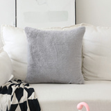 HOME BRILLIANT Plush Lambskin Faux Fur/Suede European Throw Pillow Sham Super Soft Large Cushion Cov