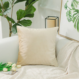 HOME BRILLIANT Soft Velvet Solid Square Decorative Cushion Cover for Chair/Babies/ Office/Lounge, w